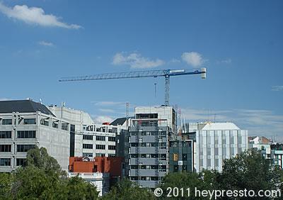 Crane in Madrid, Blue Sky