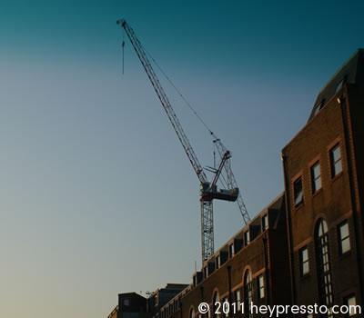 Crane through Tinted Windscreeen