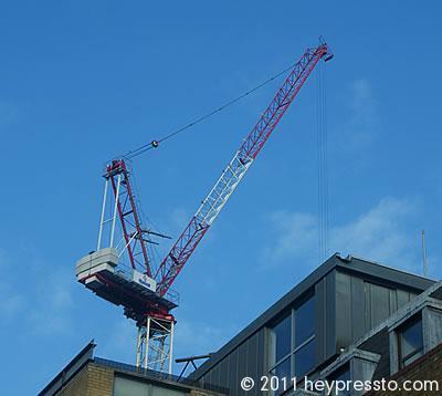 Mansell Crane against Blue Sky