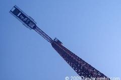 Crane towering