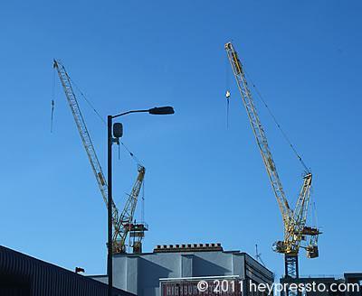 Twin Cranes at Highbury