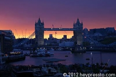 Tower Bridge Sunset Yellow Strip
